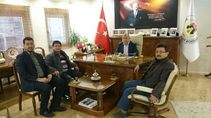 Damat İbrahim Paşa Gençlik Derneği'nden Borsa Başkanı Salaş'a Ziyaret