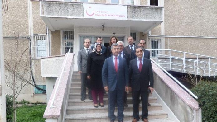 Vali Hamza Erkal Halk Sağlığı Müdürlüğünü Ziyaret Etti