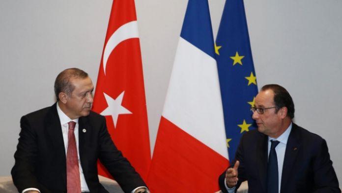 Erdoğan Hollande'la görüştü