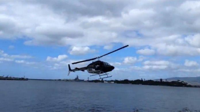 Helikopter denize çakıldı !