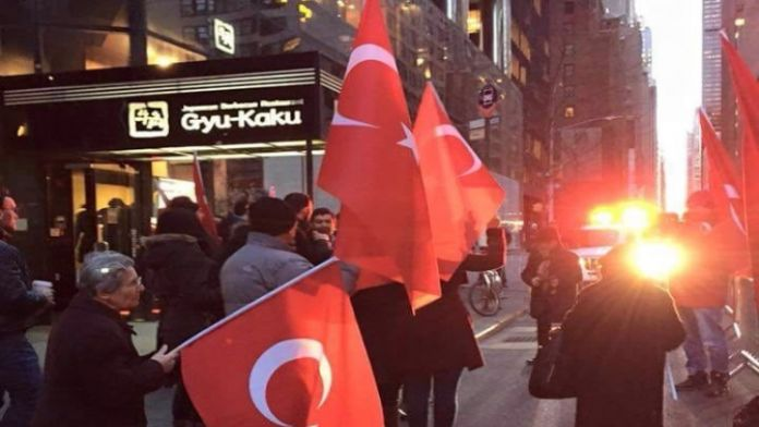 New York'ta 'Ankara' protestosu
