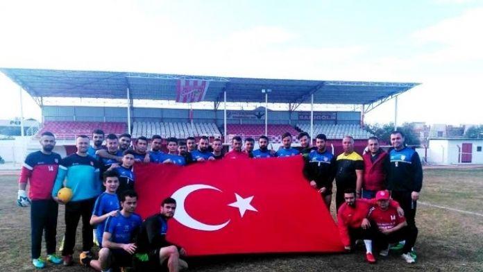 Sarıgöl Belediyespor'dan Teröre Karşı Türk Bayraklı Tepki