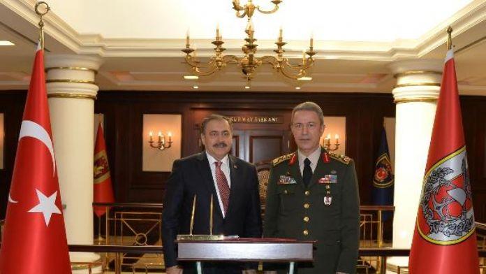 Bakan Eroğlu'ndan Genelkurmay Başkanı Akar'a taziye ziyareti