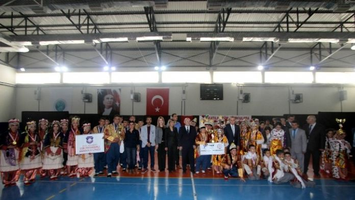 Okullar Arası Halk Oyunları Yarışması Yapıldı