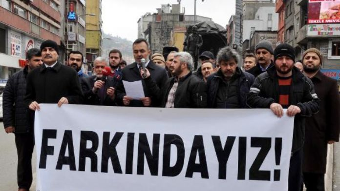 Zonguldak'ta, Ankara'daki terör saldırısı protesto edildi