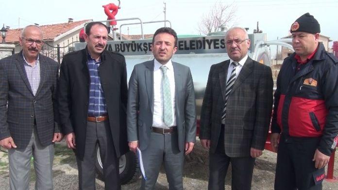Çumra'da İlk Müdahale Tankerlerini Mahallelere Teslim Ediliyor