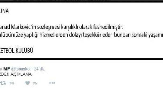 Trabzonspor Medical Park Markoviç'le yolunu ayırdı