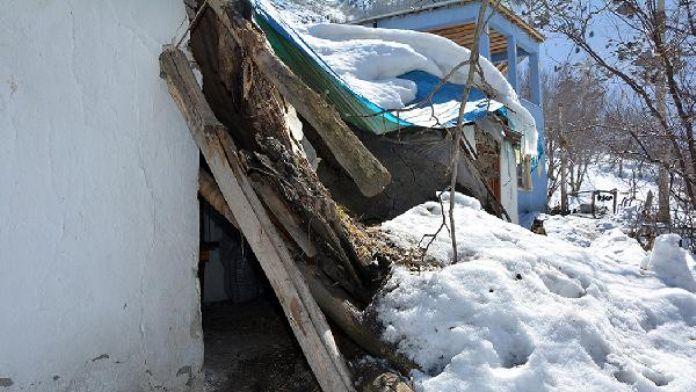 Çatak'ta dikiş nakış kursu, kar yüzünden çöktü