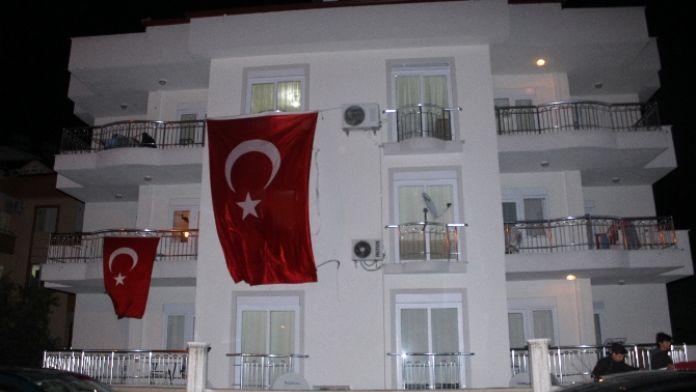 Şehit ateşi Antalya 'ya düştü
