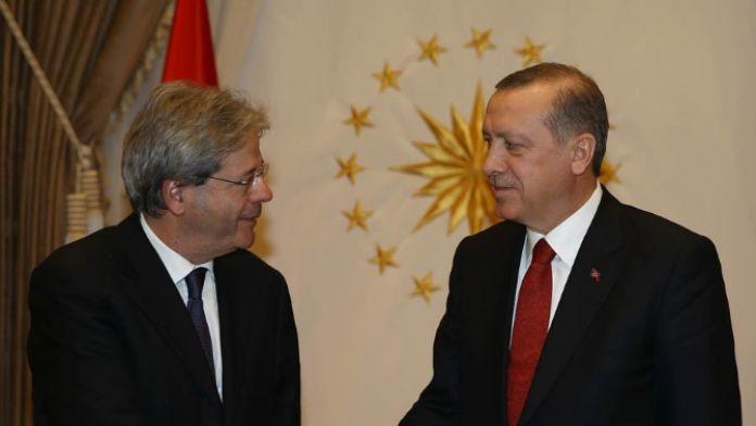 Erdoğan, İtalyan Bakanı kabul etti