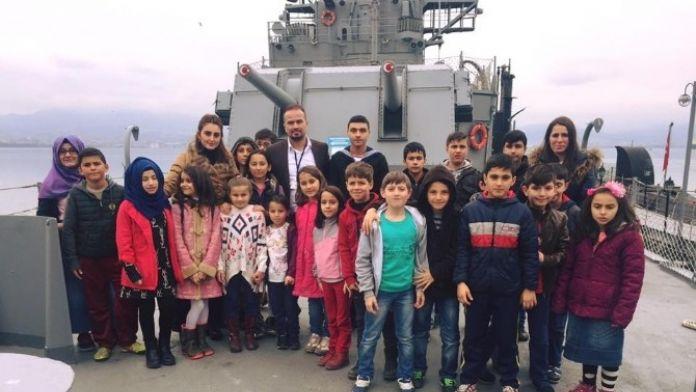 Kartepe Bilgi Evi Öğrencileri Gayret Gemi Müzesini Gezdi