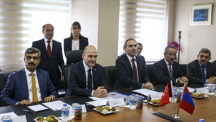 Çalışma ve Sosyal Güvenlik Bakanı Soylu'nun kabulü