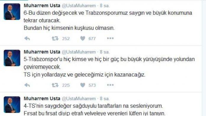 Trabzonspor Başkanı Usta: 'Trabzonspor'u doğruyorsan düdüğünü asacaksın'
