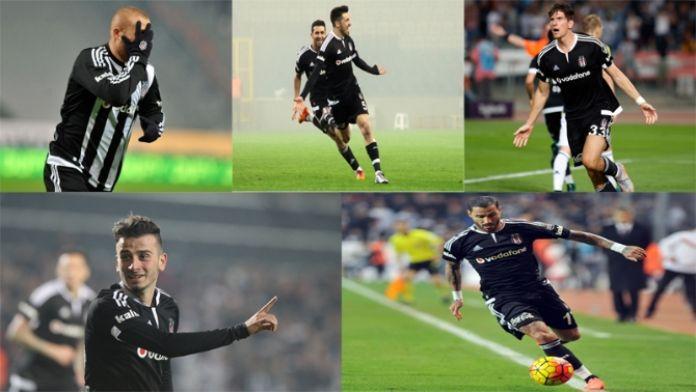 Beşiktaş'ın süper 5'lisi