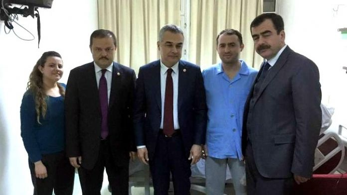 AK Parti'li Vekiller, Nazillili Gazileri GATA'da Ziyaret Etti