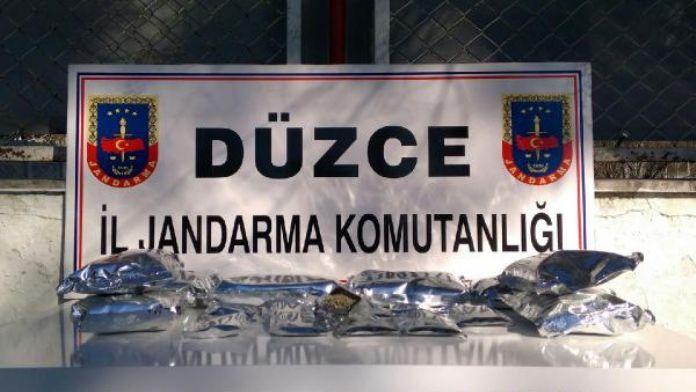 Düzce'de uyuşturucu operasyonu: 1 gözaltı