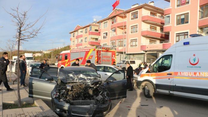 Başkent'te kaza: 4 polis yaralı