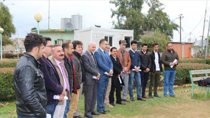 Kerküklüler 'İmam Humeyni Kültür Merkezi'ni protesto etti