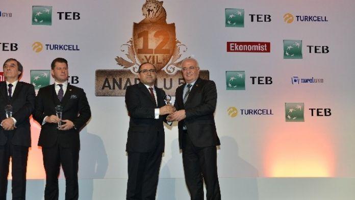 Anadolu'nun En Büyük 500 Şirketi Araştırmasında Tiryaki Agro'ya Birincilik Ödül