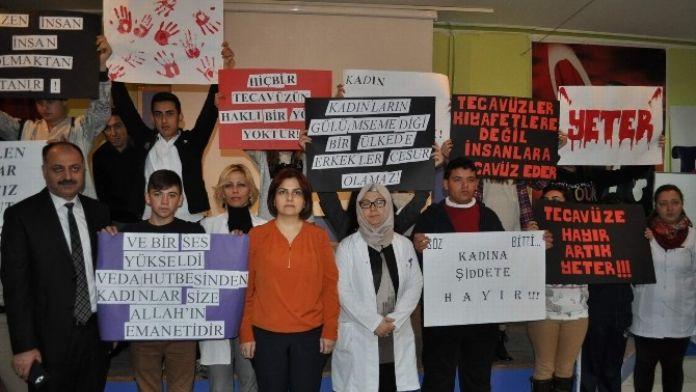Nevşehir'de Öğrencilerden 'Cansel Buse' Protestosu