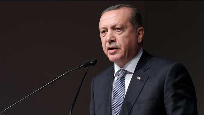 Erdoğan muhtarlara konuşuyor