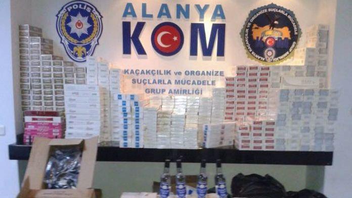Alanya'da Polis Kaçak İçkiye Geçit Vermiyor