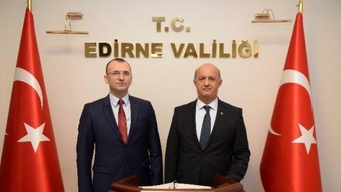 Bulgar Heyetinden Edirne Vali Vekili Tanç'a Ziyaret