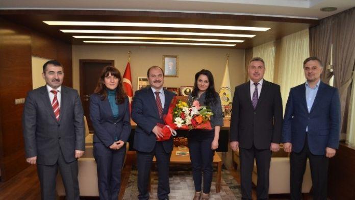 Bolatlı'dan Başkan Eyvaz'a Ziyaret