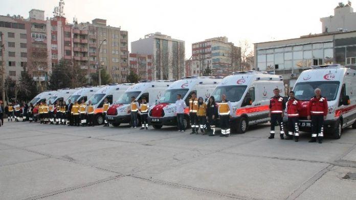 Adıyaman'da 8 Yeni Ambulans Hizmete Girdi
