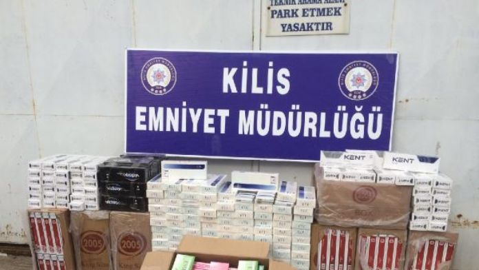 Kilis'te 7 bin 500 paket kaçak sigara ele geçirildi