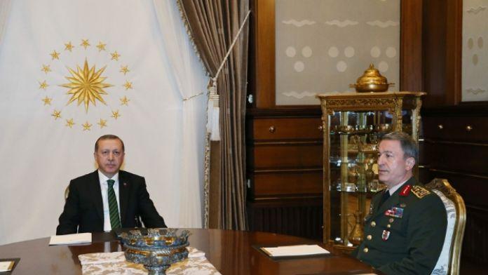 Cumhurbaşkanı Erdoğan ve Genelkurmay Başkanı arasında kritik görüşme !