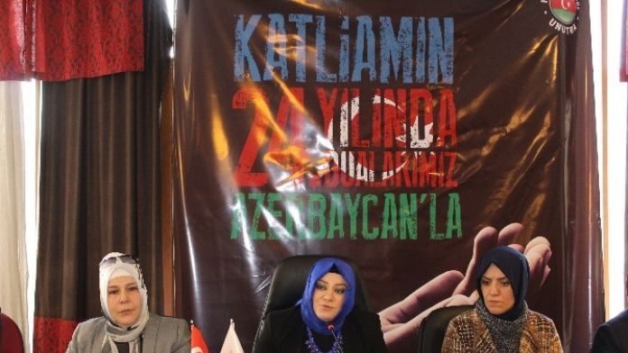 AK Parti Erzurum Kadın Kolları Teşkilatı Hocalı Katliamını Kınadı