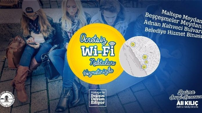 Maltepe Belediyesi'nden Ücretsiz İnternet Hizmeti