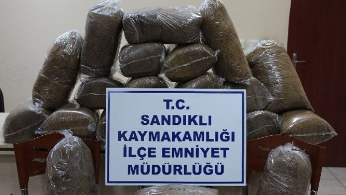 Sandıklı'da 110 Kilo Kaçak Tütün Ele Geçirildi