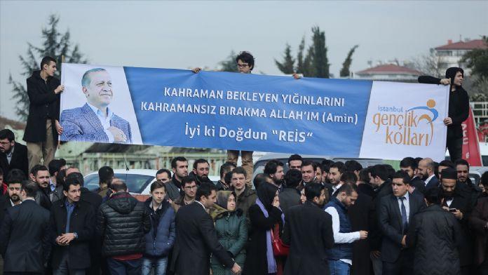 Cumhurbaşkanı Erdoğan'a sürpriz doğum günü kutlaması