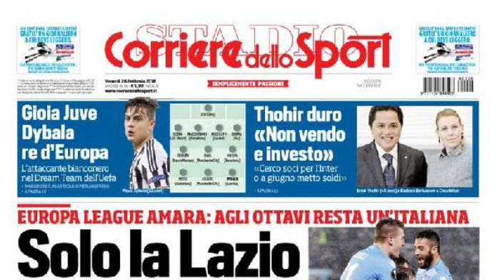 Lazio-Galatasaray maçı İtalyan basınında