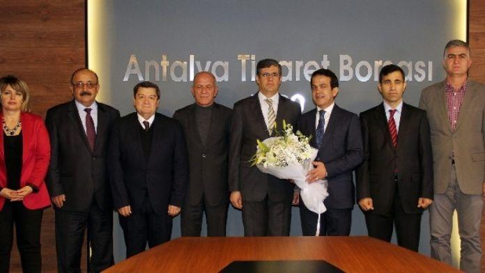 Vergi Dairesi Başkanı Akca'dan ATB'ye Ziyaret