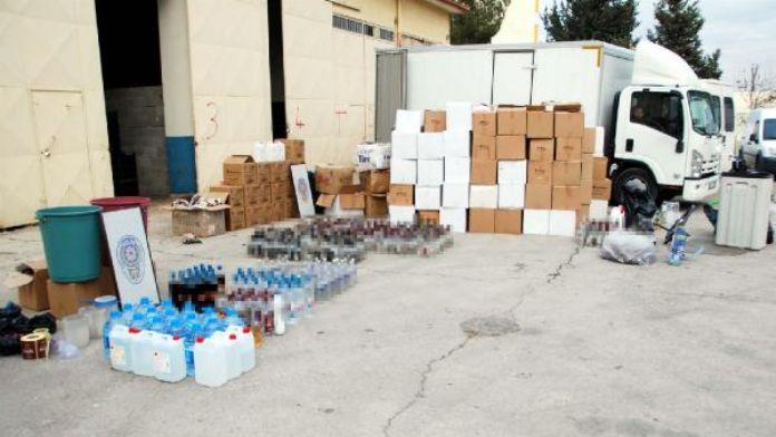 Gaziantep'te sahte içki operasyonu: 16 gözaltı