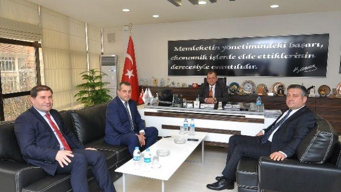 Halkbank Yöneticilerinden Çorum TSO'ya Ziyaret