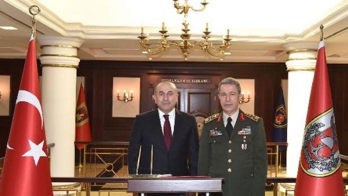 Çavuşoğlu'ndan Genelkurmay Başkanı Orgeneral Akar'a ziyaret