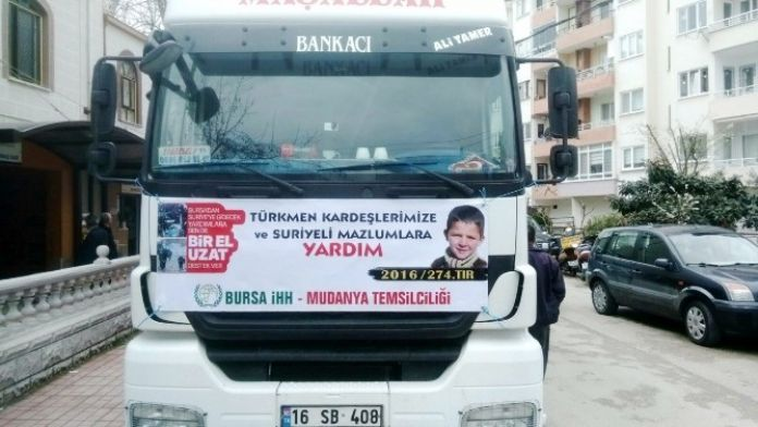 Mudanya'dan Suriyeli Mazlumlara Yardım