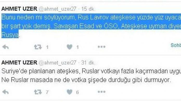 AK Partili Vekilden Rusya'ya Votkalı Ateşkes Göndermesi