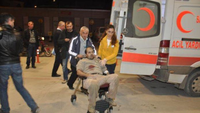 Yer süpürme kavgasında 3 kişi yaralandı