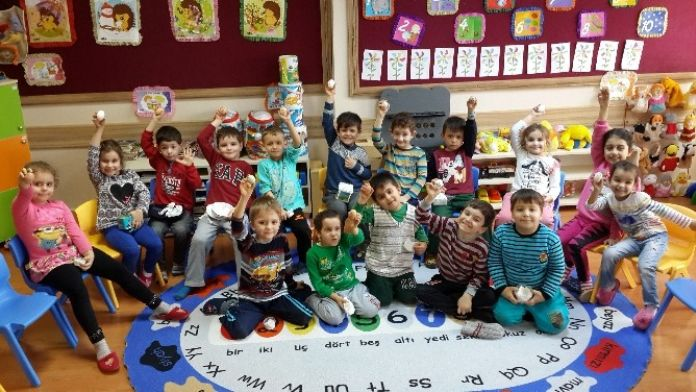 Çan Cumhuriyet İlkokulu'ndan 'Yumurtam Çatlamasın' Projesi