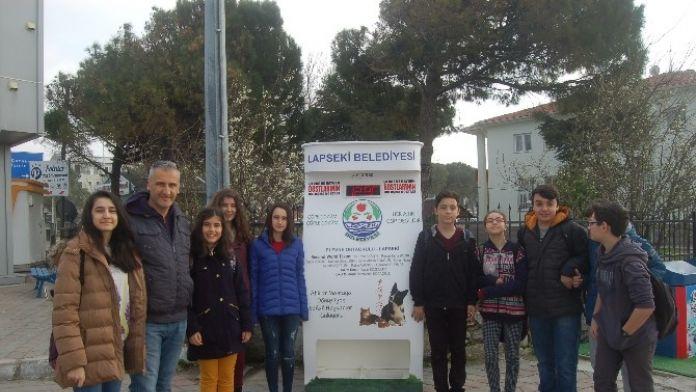 Lapseki'de Sokak Hayvanları İçin Yem Ve Su Makinesi Kondu