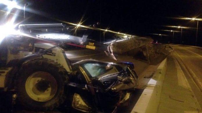 Ankara'da paramparça olan otomobilde 1 kişi hayatını kaybetti