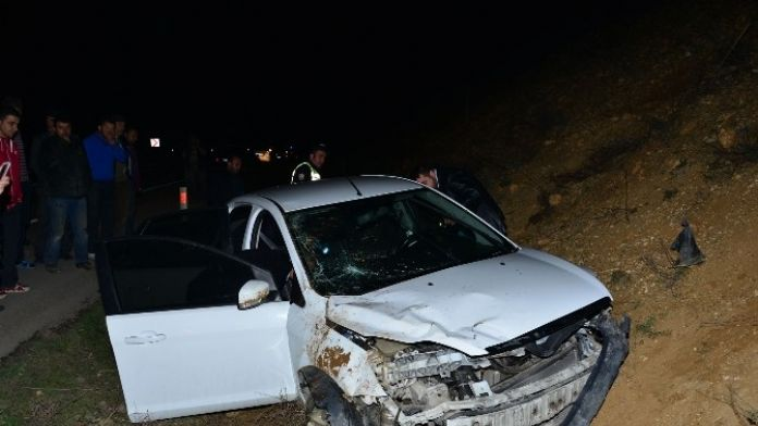 Tokat'ta Otomobil Şarampole Uçtu: 3 Yaralı