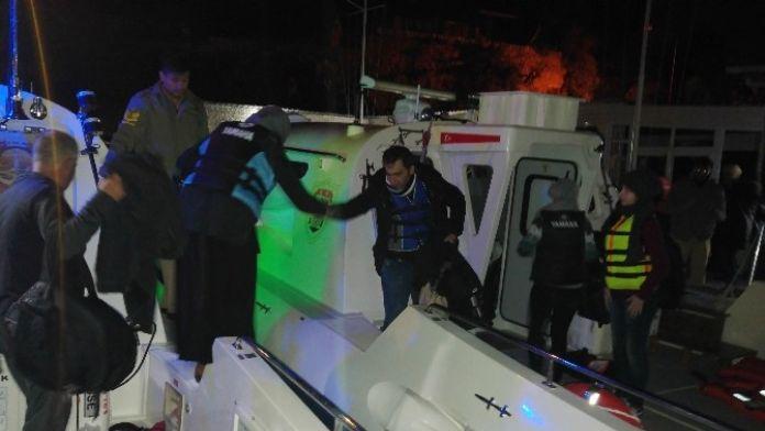 Kaş'ta 128 Suriyeli Mülteci Yakalandı