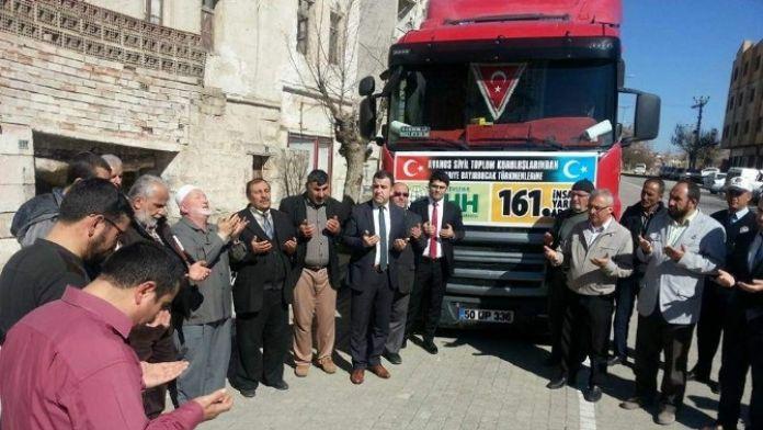 Avanos'tan Bayır Bucak Türkmenlerine İlk Yardım Tır'ı Gönderildi