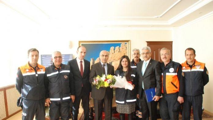 AFAD Personelinden Vali Demirtaş'a Ziyaret